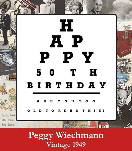 Happy Birthday #wine Label With Vision Test. Personalized