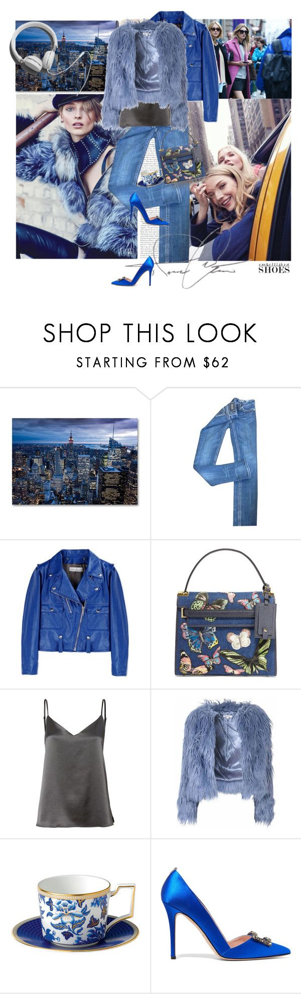 """""""MAGIC SLIPPERS"""" by blogthegoodlife ❤ liked on Polyvore featuring Miss Me, Golden Goose, Valentino, L'Agence, Glamorous, Wedgwood, Garance Doré, SJP and embellishedshoes"""
