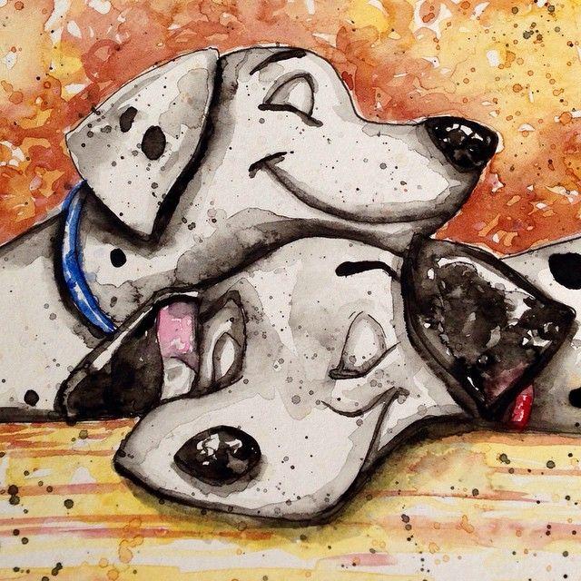 Pongo & Perdy | 101 Dalmatians | Fan Art | triciakibler's photo on Instagram
