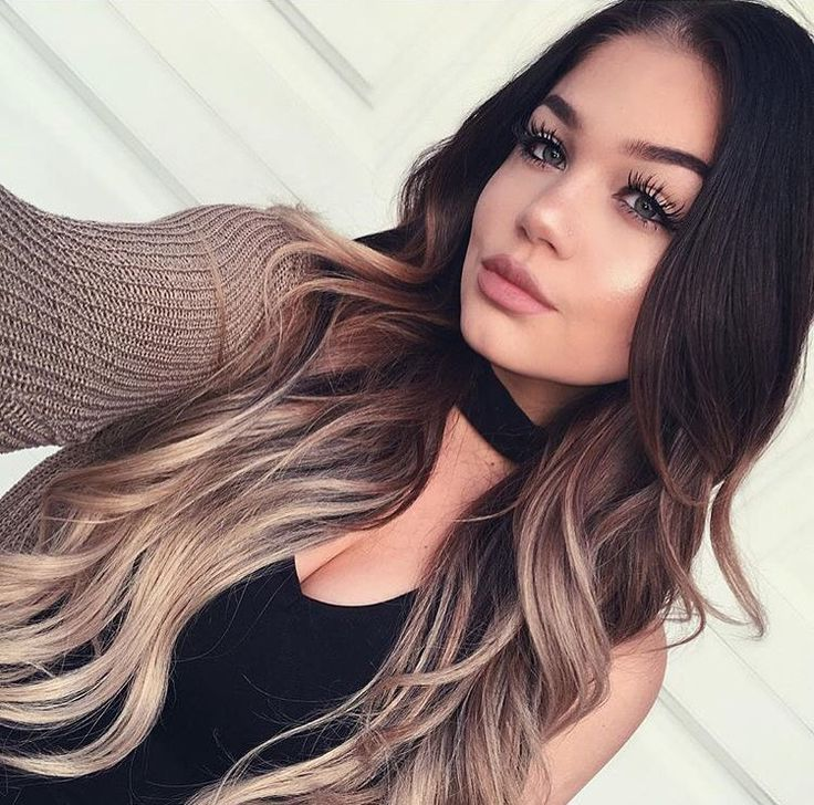 """No one causes hair envy like @blissfulbrii_  in her @guy_tang 220g 22"""" 1C/18 Balayage ✨"""
