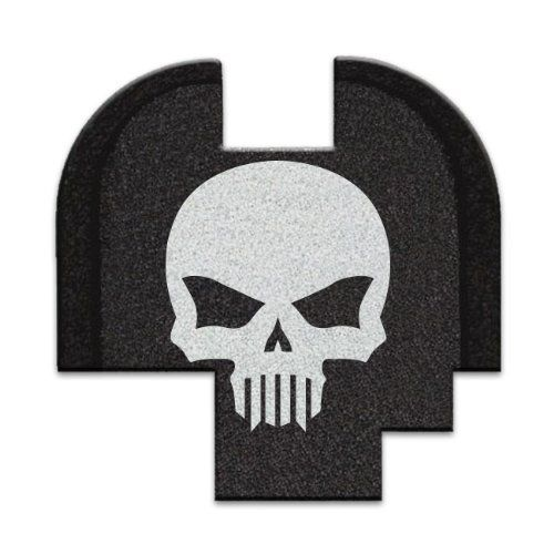 Springfield Armory XDs Pistol 9mm .45 ACP Custom Rear Slide Plate BASTION TACTICAL SKULL