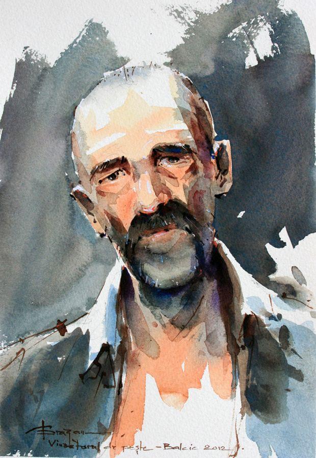 Watercolour-Acuarela-Corneliu-Dragan-Targoviste-portret-2