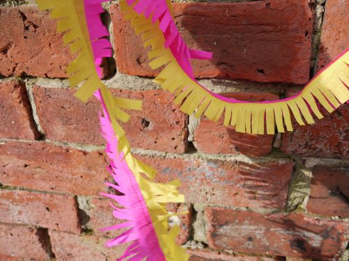 Our hand fringed and stitched two tone garland - part of our collection inspired by Jem and the Holograms!