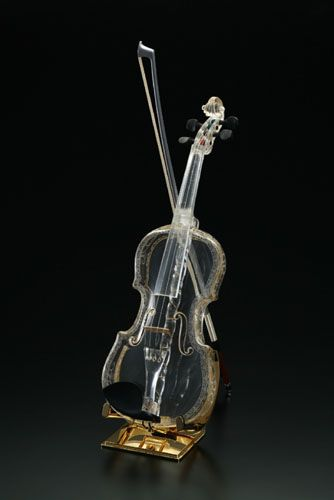 The World's First Glass Violin- Handmade and hand-blown from a single piece of glass.
