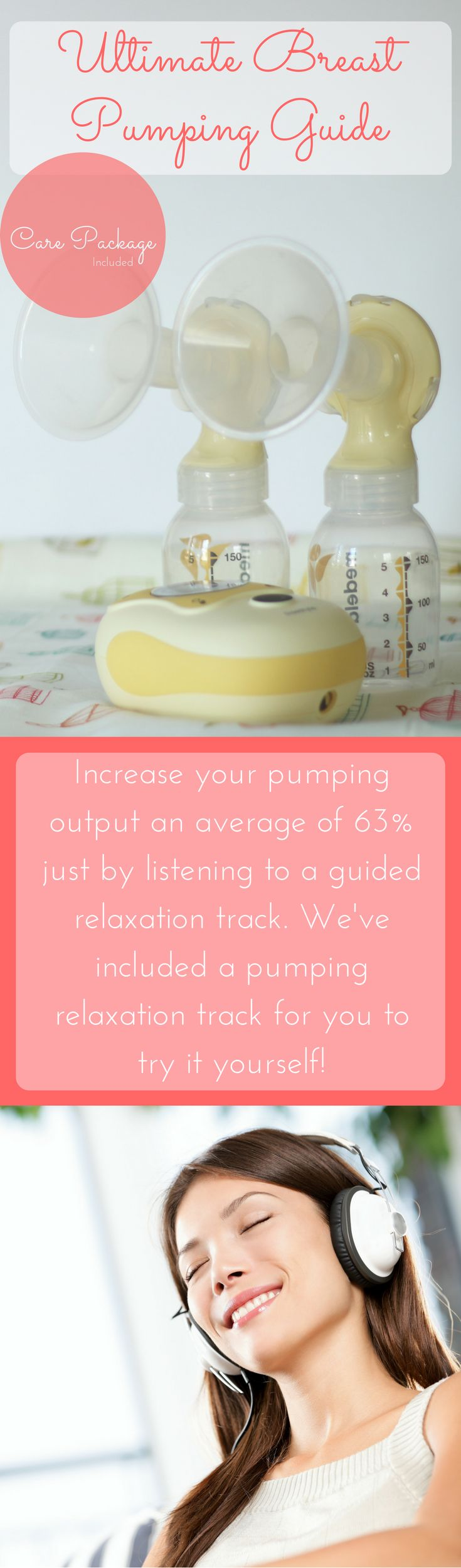 Download our free Relaxation for Breast Pumping mp3 and increase your pumping output. Plus - the ultimate breast pumping guide. This post covers everything you'll ever need to know about breast pumping. How to start, choosing the right breast pump, pumping schedules, increasing comfort and production, tips for pumping at work or while traveling, and more!