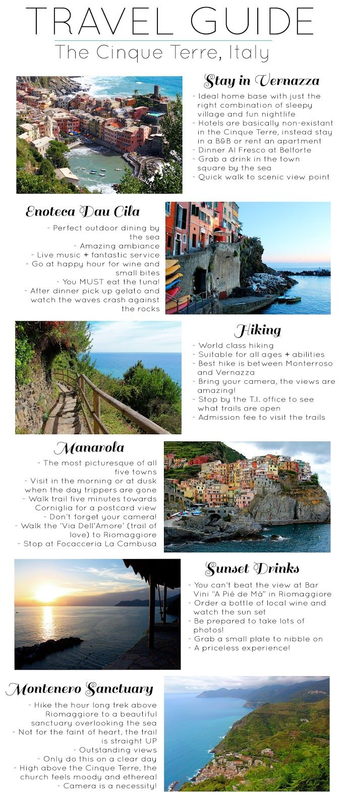 Travel Guide :: The Cinque Terre | travel europe