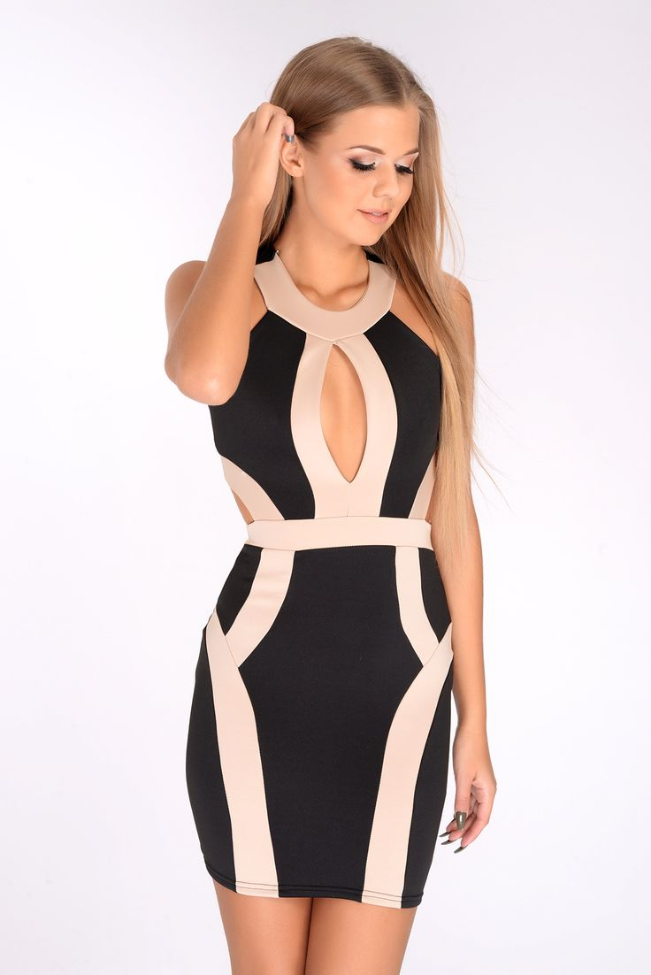 Bandage bodycon dresses 0 celebrities 1639 get lucky extra 50 0 - Olive Black Nude Cut Out Bodycon Dress