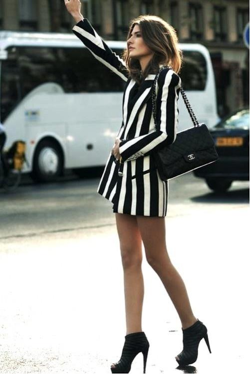 black and white stripe blazer -- dress?