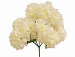 www.efavormart.com-silk flowers, artificial flowers, chrysanthemum bush, ivory