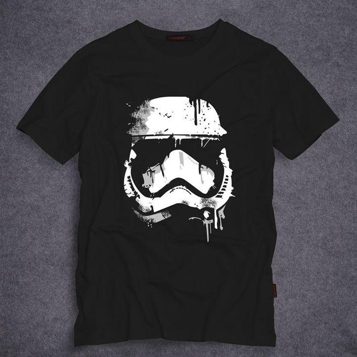 Star Wars Stormtrooper T Shirts Men Short Sleeve O Neck Top Tees Short Sleeve 100% Cotton t-shirt S-5XL