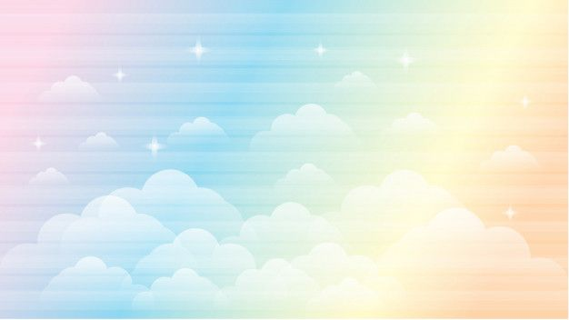 Vector Illustration Of Galaxy Fantasy Background And Pastel Color The Unicorn In Pastel Sky With Rainbow Fant Fantasy Background Vector Illustration Art Logo