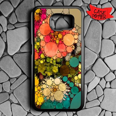 Pattern Round Full Color Samsung Galaxy S6 Black Case