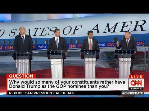 GOP Debate 2015 1st round CNN Republican debate 9/16/15 presidential debate - YouTube