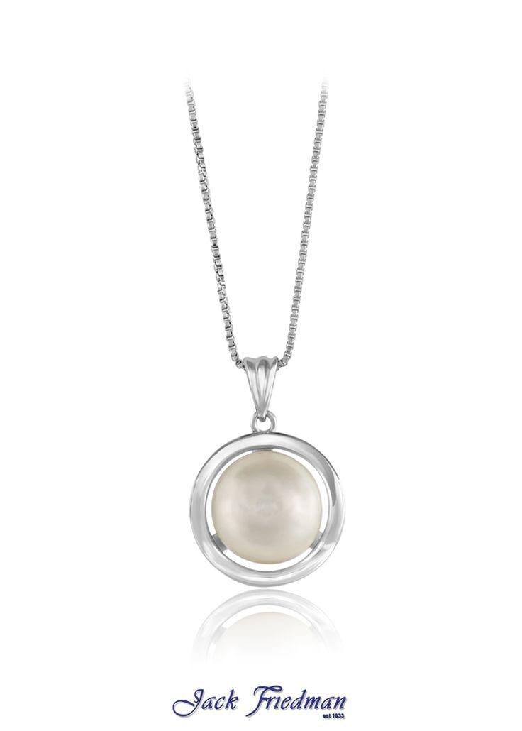 Fresh water pearl pendant set in silver jackfriedman.co.za