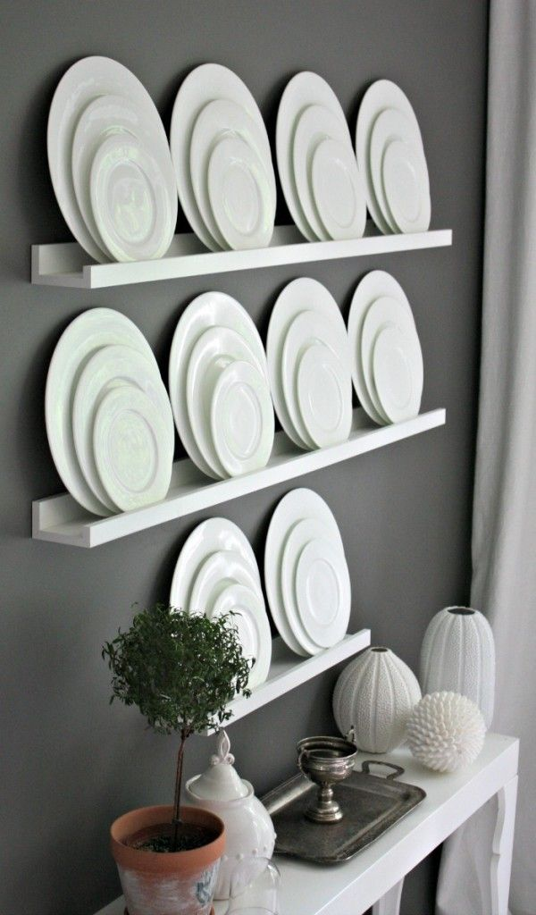 Dining Room Plate Wall Decor - might be something to do with my plates that arent dishwasher safe