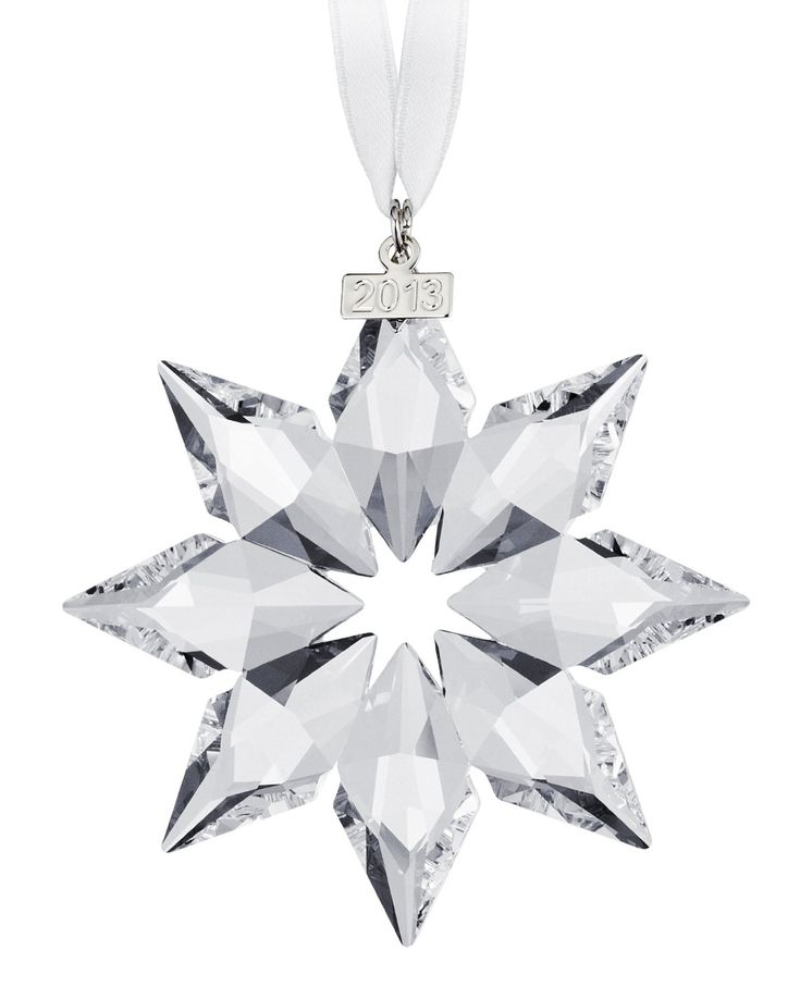 Nice Swarovski 2000 Christmas Ornament Part - 11: Swarovski 2013 Annual Edition Crystal Star Ornament Made In Austria Limited  Edition To 2013 Great Gift For Newborn, Wedding Or Any Christmas Ornament  ...