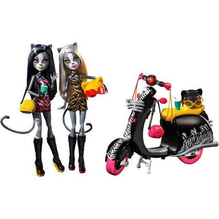 Meowlody & Purrsephone Werecat Sisters and Scooter Monster High Dolls Gift Set, 2015 ($44.44 at Walmart.com)