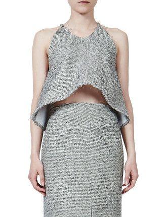 Drizzle Spagetti Strap Crop Top #davidjones #djsfashion #style #autumn #winter #fashion #Ellery