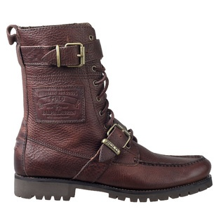-Polo by Ralph Lauren Mens Boots Radbourne Mahogany Oiled Tumbled 8121232701FJ