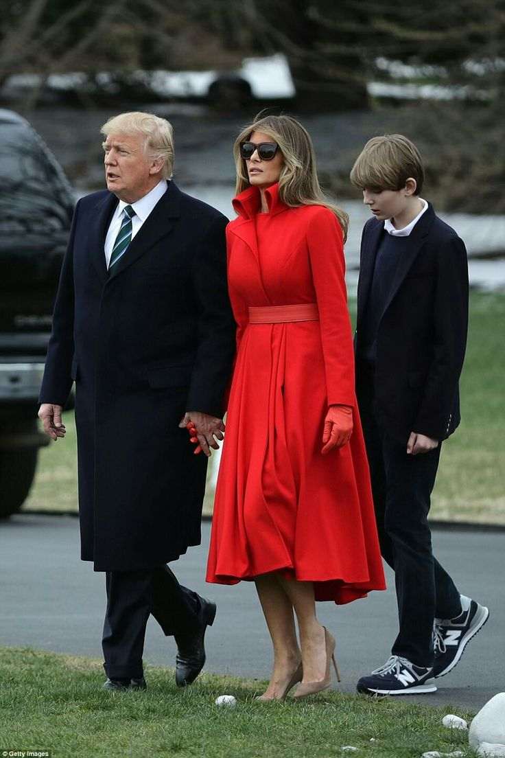 President Donald J. Trump and First Lady Melania Trump with son Barron