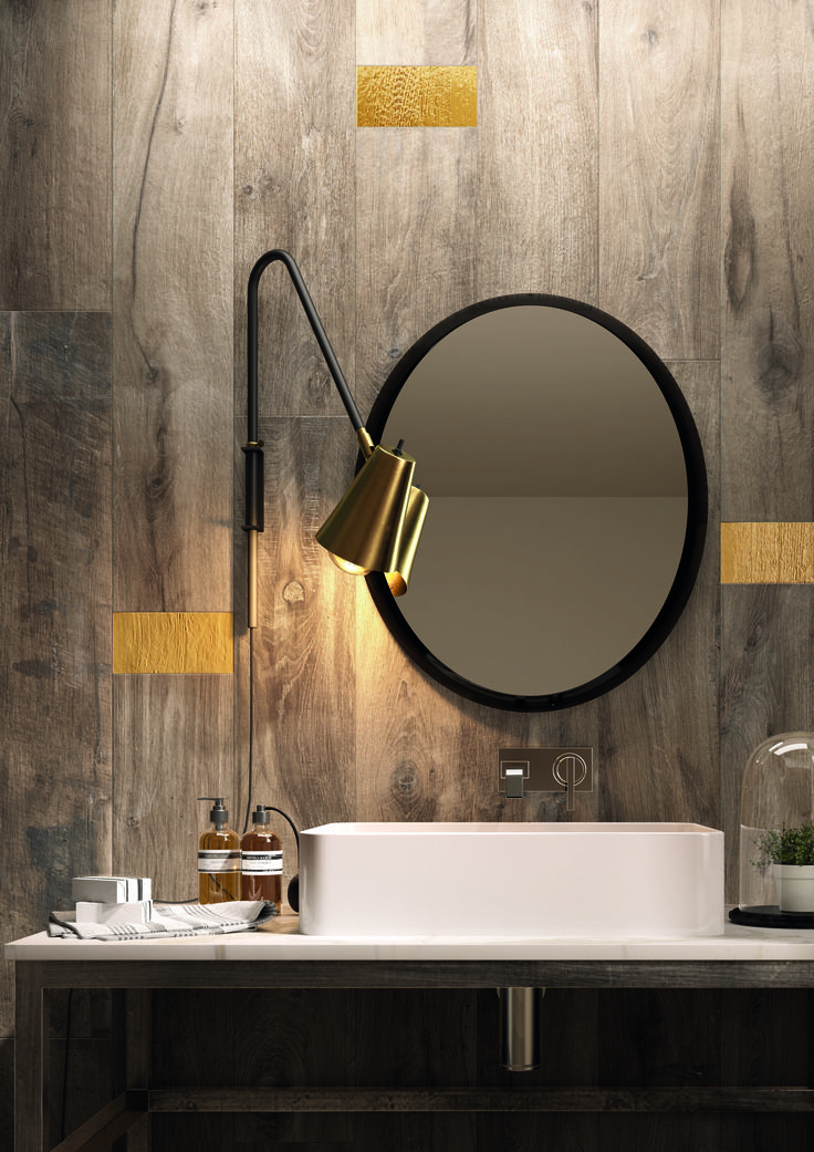 Would you use wood look tile on a bathroom wall?