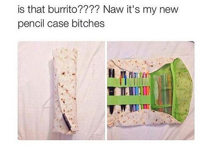 This pencil case/burrito