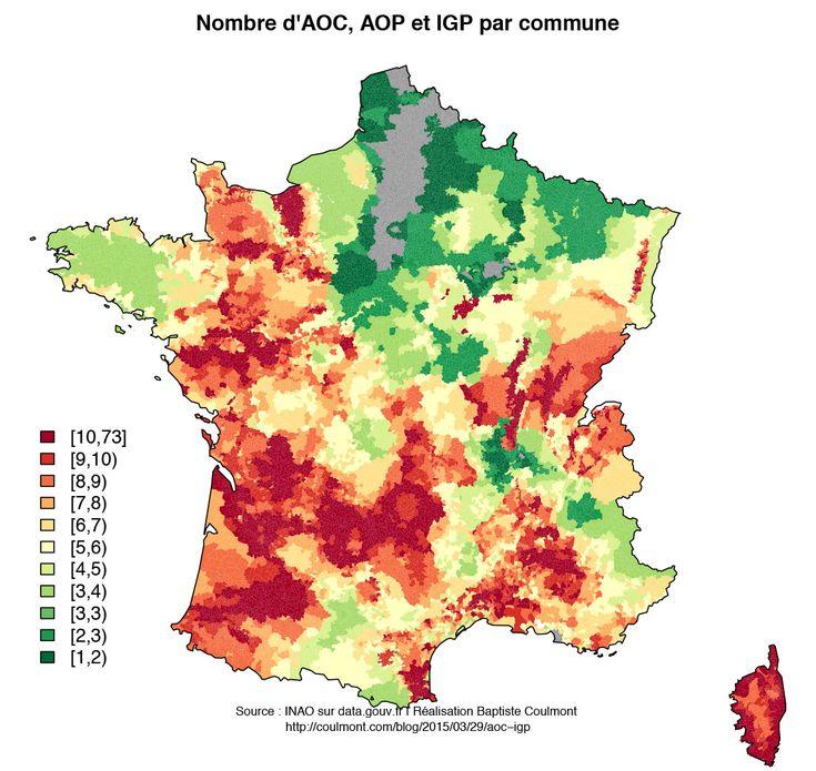 Les labels alimentaires cartographiés en France métropolitaine.   Veille cartographique 2.0
