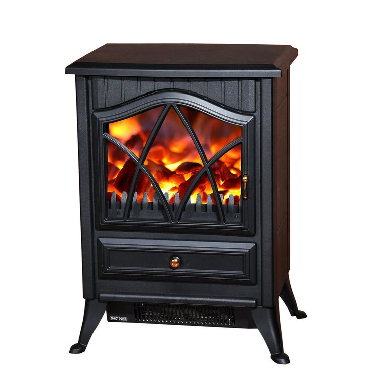 HOMCOM 1850W LOG BURNING FLAME EFFECT STOVE HEATER ELECTRIC FIRE PLACE FIREPLACE FAN: Amazon.co.uk: Kitchen & Home