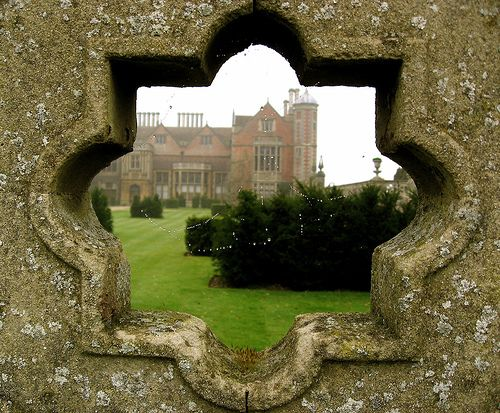 Charlecote Park - Through  the Wall - And Mist..
