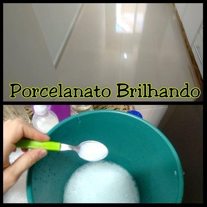 Receita Caseira para limpar Porcelanato