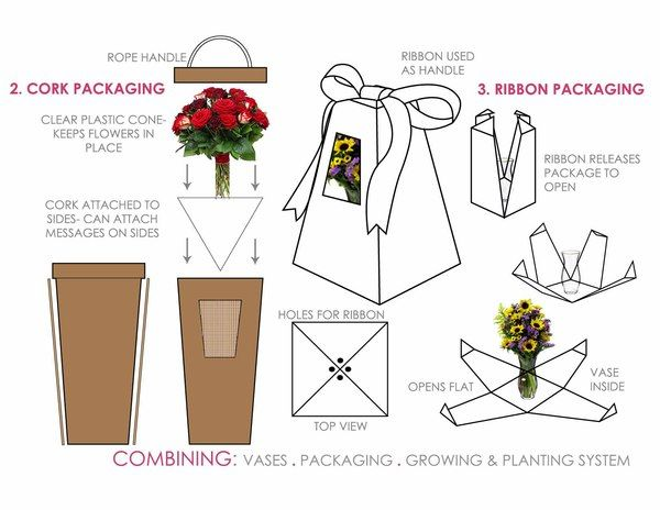 Flower Packaging by Stephanie Fioritto, via Behance
