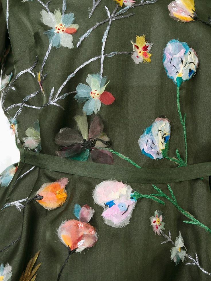 Valentino floral applique dress