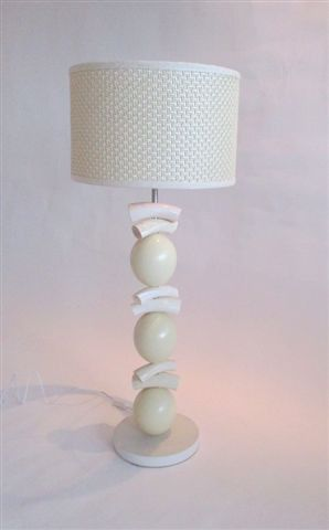 Ostrich Egg And Kudu Horn Lamp