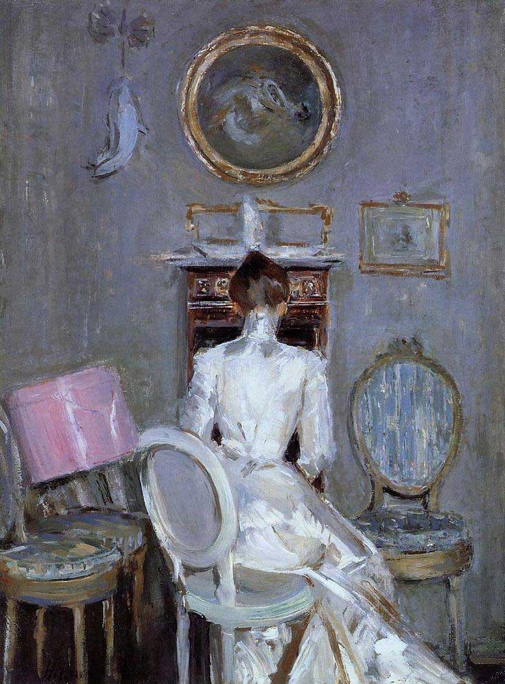 Madame Helleu in Her Husband's Studio, Paul Helleu, artist.