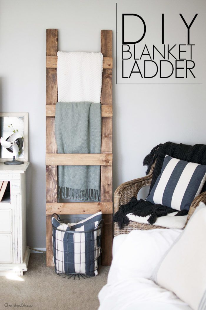 17 best ideas about storing blankets on pinterest cheap throw blankets cheap ladders and for Living room blanket storage ideas
