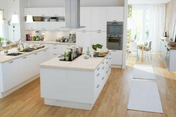 Cuisine avec lot central cuisine et design - Grande cuisine avec ilot central ...