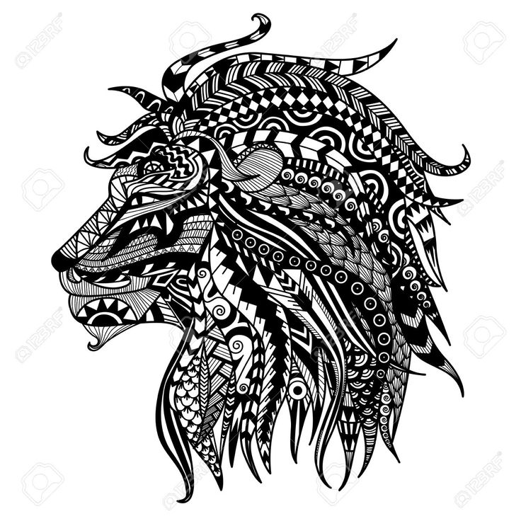 hand gezeichnet l wen malvorlagen tattoo lion cats leopard tiger pinterest h nde zeichnen. Black Bedroom Furniture Sets. Home Design Ideas