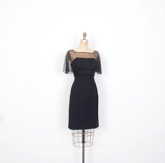 Vestido vintage años 1960 / 60s ilusión por lapoubellevintage