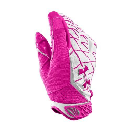 Men's UA Warp Speed Football Gloves Gloves by Under Armour Large Tropic Pink by Under Armour. $33.99. Gloves meet NFHS/NCAA/NOCSAE standards. Lightweight, breathable ArmourMesh™ glove construction on the back of the hand keeps you protected without being stifling. Armour® GrabTack palm is scientifically proven to be our stickiest grip ever, giving you the edge on the field. UA precision fit ensures perfect comfort, mobility, and support on the field. Textured PU thumb and i...