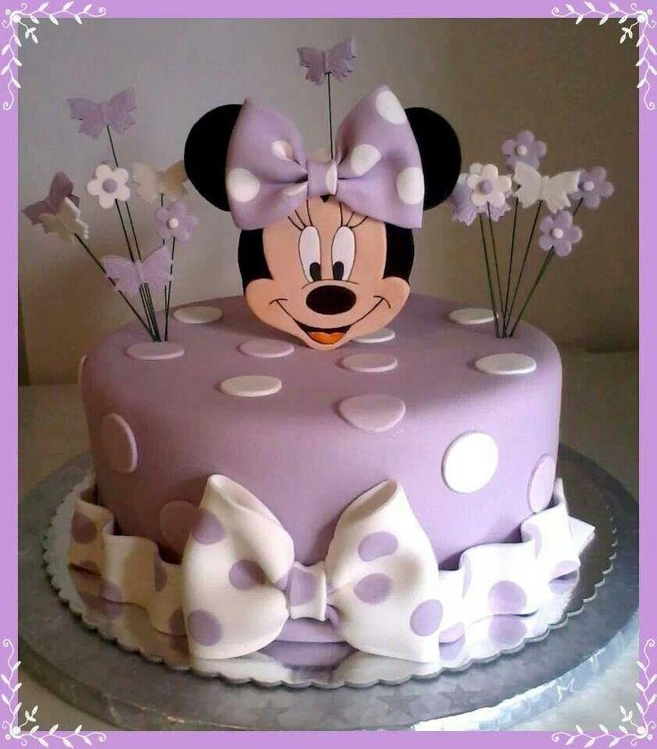 Purple Minnie mouse cake