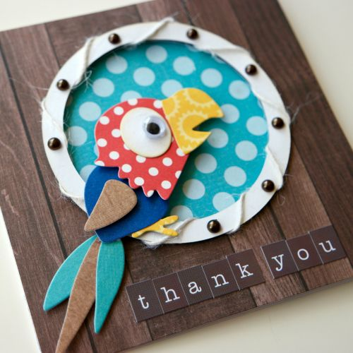 """""""Pirate's Life"""" Porthole Card Set by Courtney Lee featuring products (including designer dies) by #EchoParkPaper"""