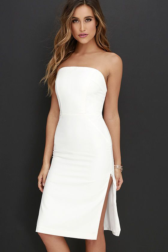 Bless'ed Are the Meek Inquisition Ivory Strapless Dress at Lulus.com!