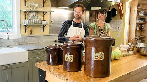 The right sauerkraut crock saves you work—how to choose the best crock for your kitchen at www.GrowOrganic.com