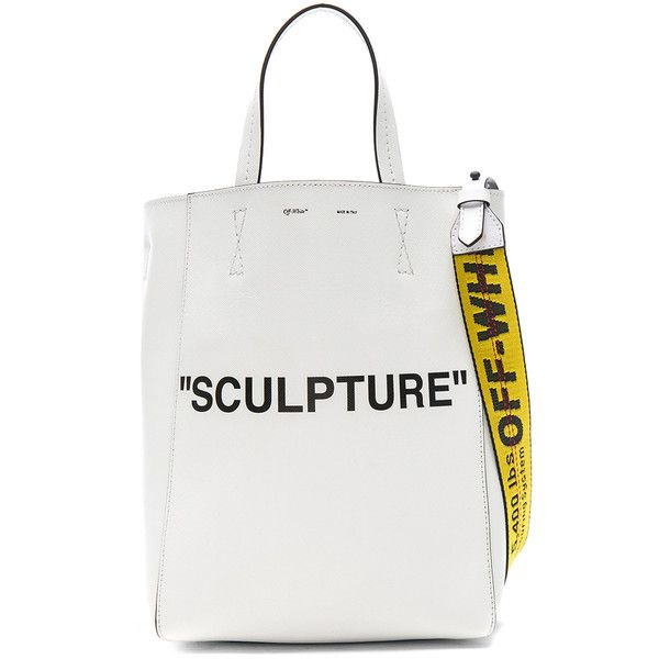 OFF-WHITE Sculpture Medium Tote Bag ($1,220) ❤ liked on Polyvore featuring bags, handbags, tote bags, handbags totes, champagne handbag, medium tote bag, zip top tote and zip top tote bags