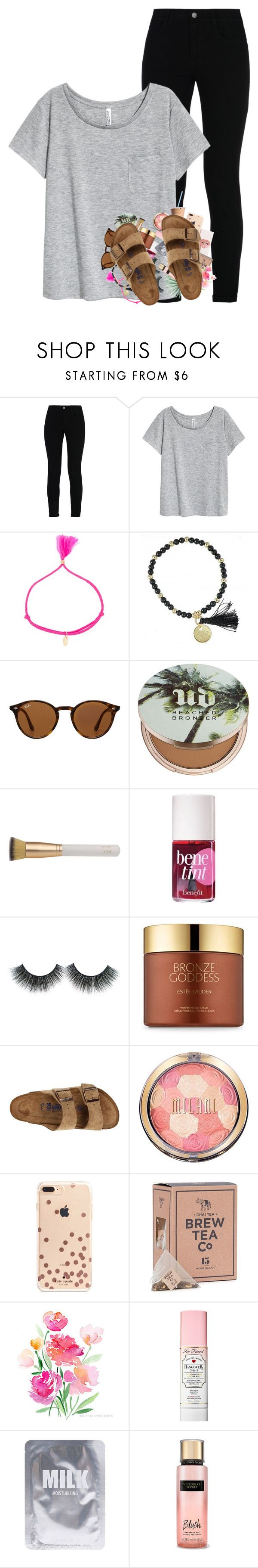 """So thankful for the 5 day weekend!!"" by kat-attack ❤ liked on Polyvore featuring STELLA McCARTNEY, Luis Morais, Ray-Ban, Urban Decay, Eve Lom, Estée Lauder, Birkenstock, Kate Spade, Agave and Too Faced Cosmetics"