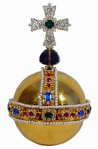 The Sovereign's Orb, featuring a large octagonal amethyst, was made for the Coronation of Charles II in 1661.