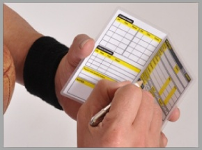 The RefSmart Game Card - Designed by football officials for officials - the most complete game card featuring our hi-tech rewritable laminate.