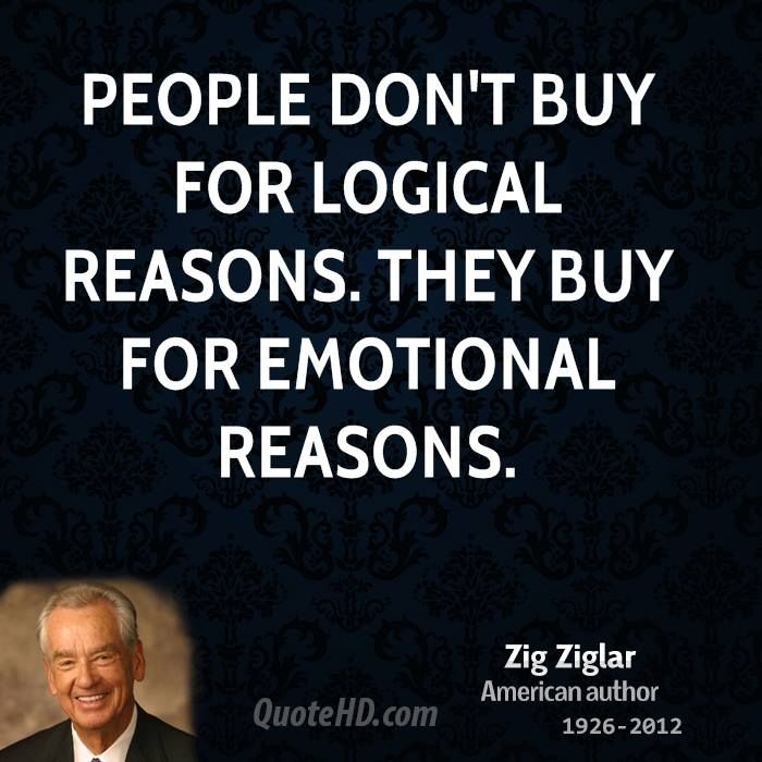 Zig Ziglar Quotes THIS INCLUDES BUYING A HOME. HOME SELLERS NEED TO REMEMBER BUYERS BUY ON EMOTION. Complete details in the book Home Selling Mastery - www.Amazon.com/dp/B00KOJ7KAA