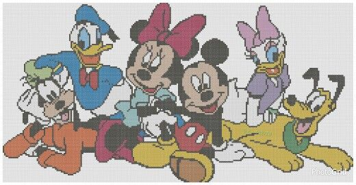 Mickey with friends