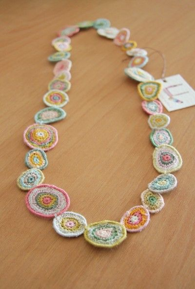 Sophie Digard Crochet Necklace #wearable #art